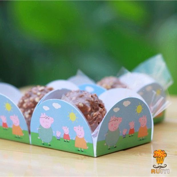 100pcs-Petal-Peppa-pig-cake-wappers-birthday-party-decorations-kids-party-supplies-chocolate-candy-box-forminhas