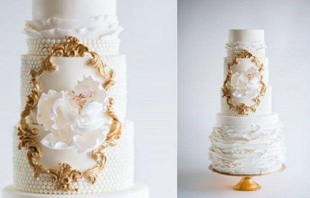 gold-framed-wedding-cake-design-by-La-Fabrik-A-Gateaux