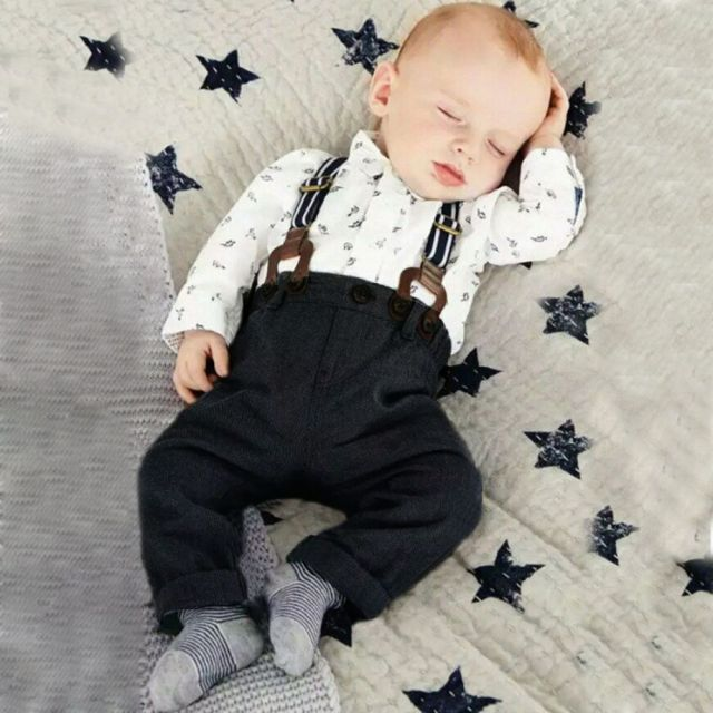 2Pcs-Set-Outfit-Baby-Boy-Clothes-Sets-Toddler-Shirt-Top-Bib-Pants-Overall-Costume-Kids-Clothing4