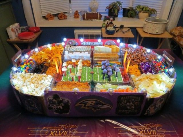 lighted chips and candy 2015 super bowl snack stadium for party - valentines day ideas holiday food-f86694