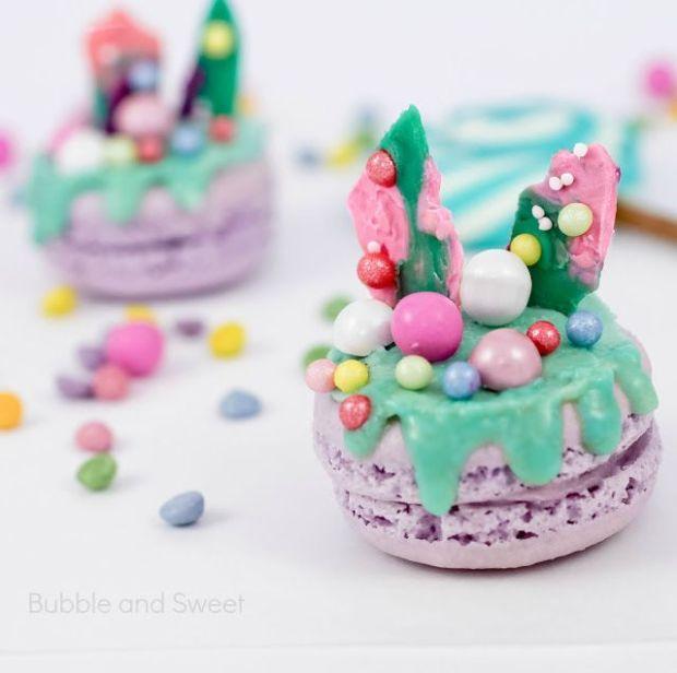 Katherine sabbath inspired macaron tinted pink candylicious pretty pastel rainbow unicorn food
