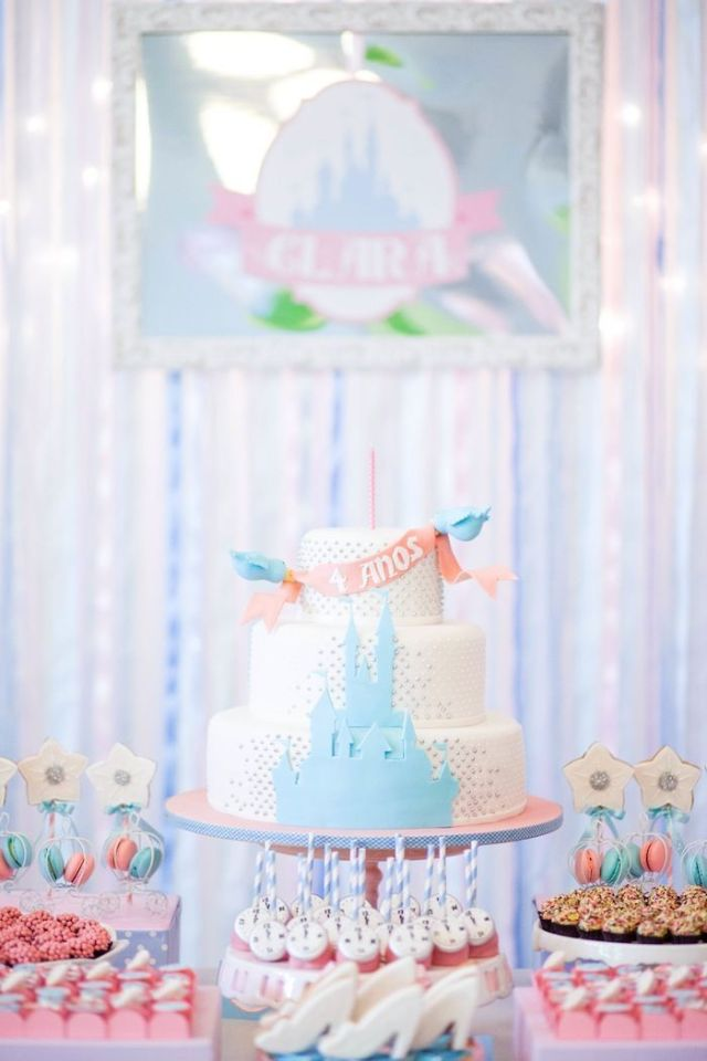 Beautiful-Cinderella-Princess-themed-birthday-party-+-cake-via-Karas-Party-Ideas-KarasPartyIdeas.com-princessparty