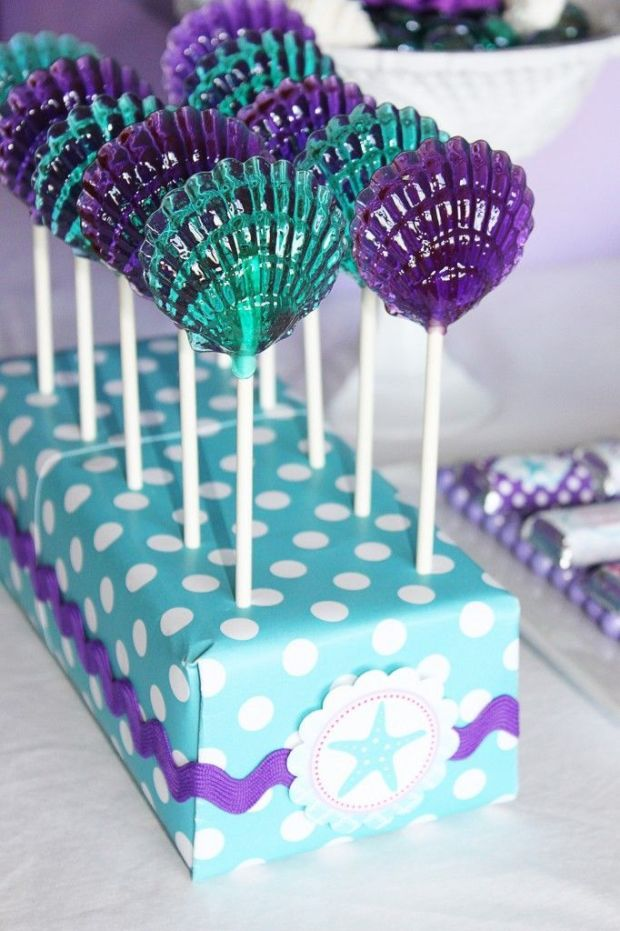 Little-Mermaid-Party-Clam-Shell-Lollipops-17