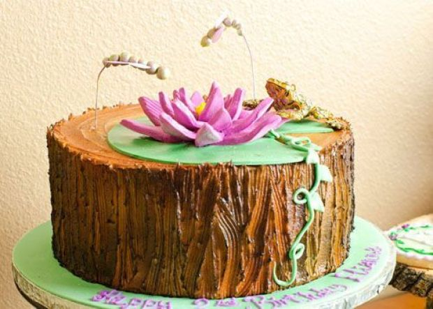 princess-tiana-frog-dreams-come-true-bayou-purple-green-second-birthday-party-cake
