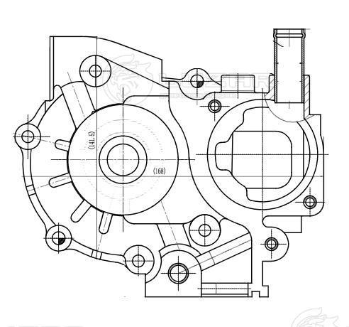 Насос водяной для а/м Subaru Impreza (00-)/Legacy (98-) 1