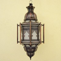 Buy Grand moroccan ceiling lamp with bars of white glass ...