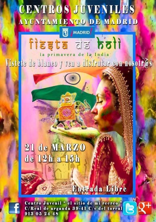 Fiesta de Holi 21 de Marzo