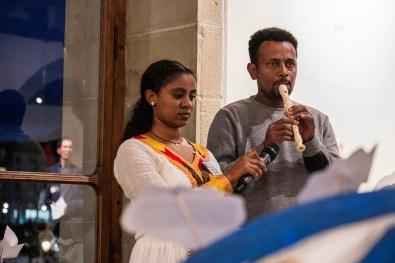 Flötenmusik gehört zum eritreisch-orthoxen Gottesdienst