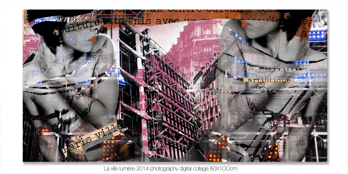 Portfolio Paris ville ouverte  Luz Perez OjedaDigital collage photography