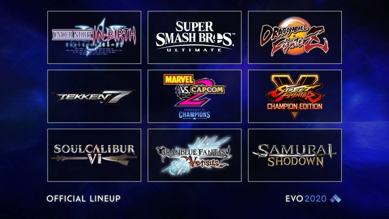 The EVO 2020 lineup