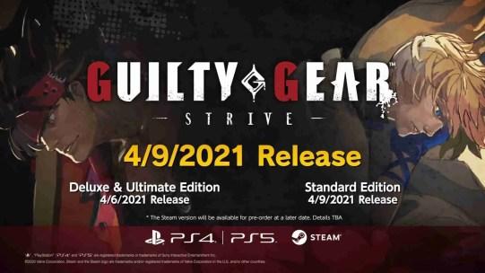 guilty gear strive launch date