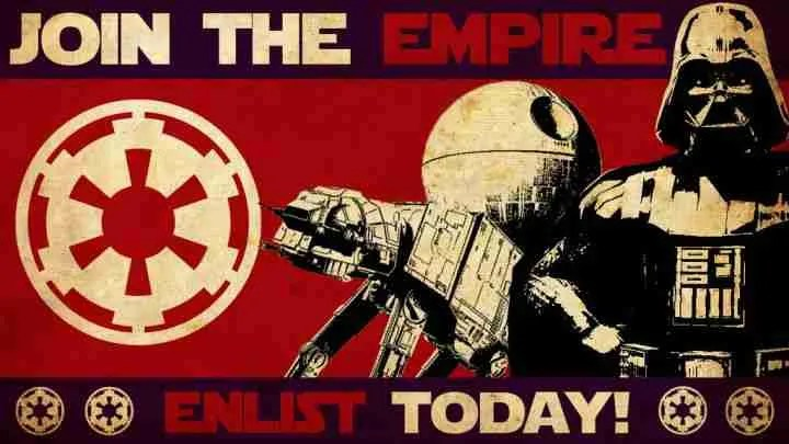 The Empire was a good thing for the Star Wars galaxy.