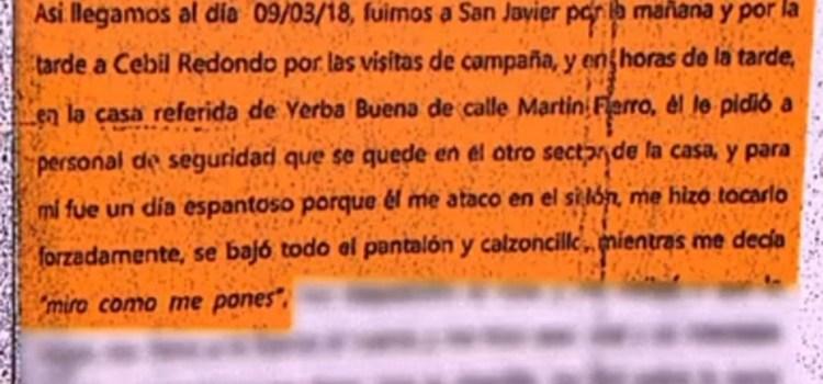 Un canal porteño mostró la declaración de la sobrina que denunció a Alperovich