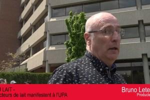 Bruno Letendre, président des Producteurs de lait du Québec