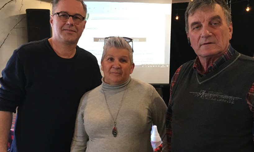 Yannick Patelli, Nicole Varin et Harold Varin