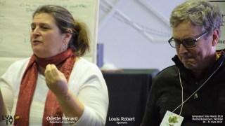 Odette Menard et Louis Robert