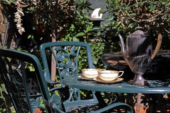 lavender's blue courtyard morning coffee © lavender's blue stuart blakley