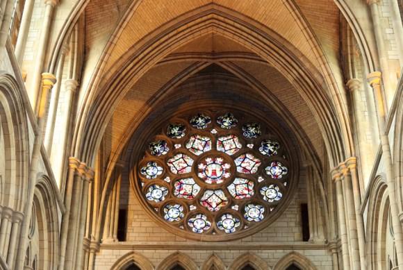 Truro Cathedral Cornwall Rose Window © Lavender's Blue Stuart Blakley