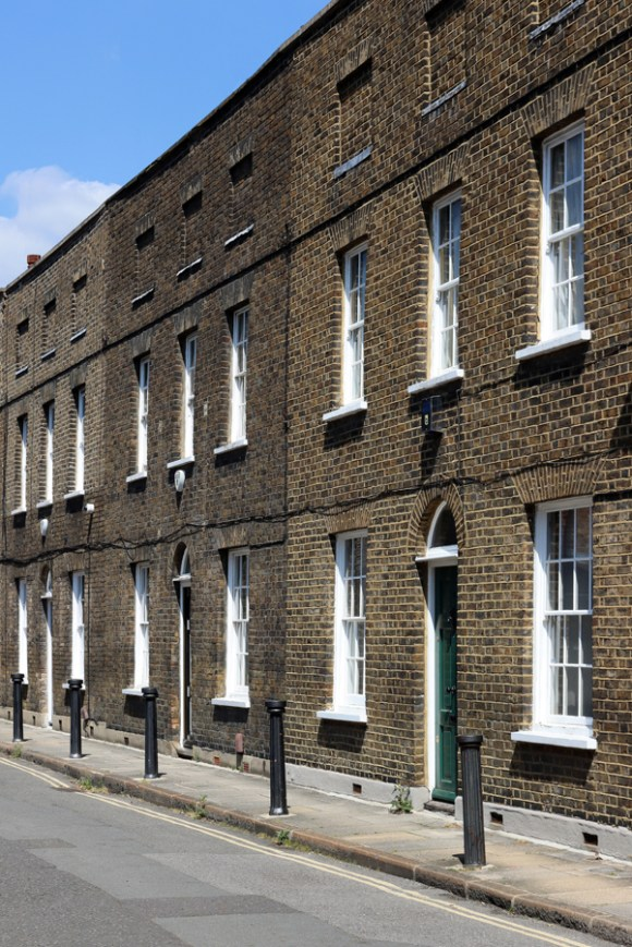 Roupell Street Conservation Area Waterloo London Bollards © Lavender's Blue Stuart Blakley