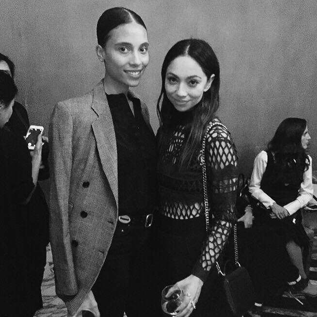 WRITTEN BY NICOLE GLIDDON. LVBX Magazine editor TyLynn Nguyen with celebrity stylist Monica Rose at Cecconi's West Hollywood.