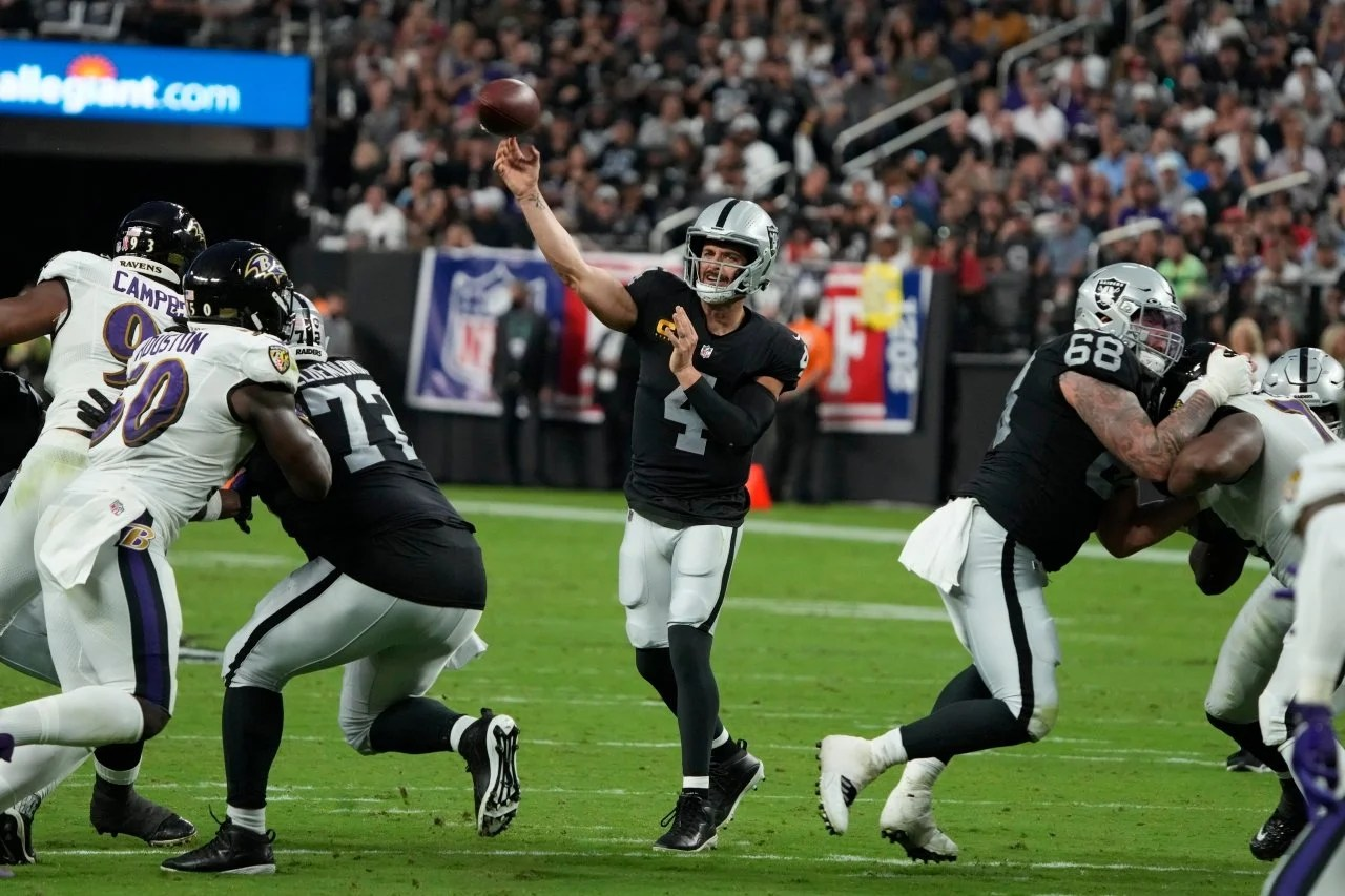 Week 7 Injury Report: Raiders mostly healthy for matchup against Eagles