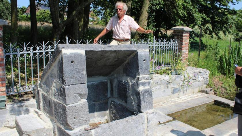 Wytse Rodenburg a présenté la fontaine, rénovée.