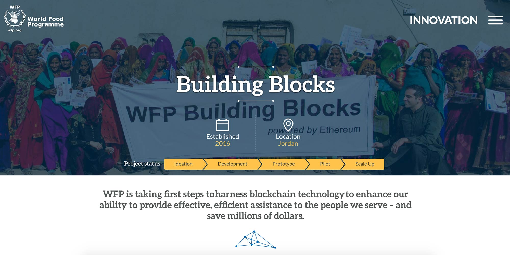 WFP using blockchain to protect and help identity