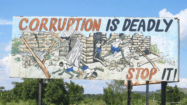 anti corruption billboard