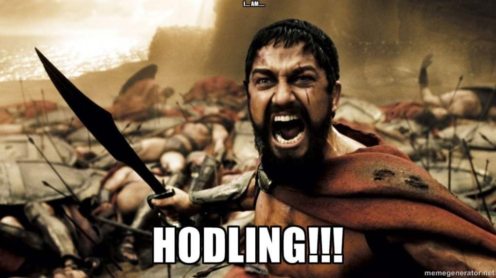 The first HODL meme, courtesy of Investopedia