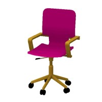 Hot Pink Desk Chair by lizziemeek - The Exchange ...