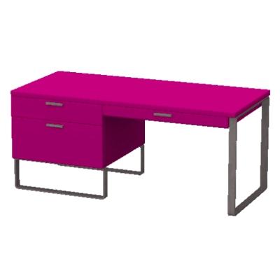 Hot Pink Desk by lizziemeek  The Exchange  Community