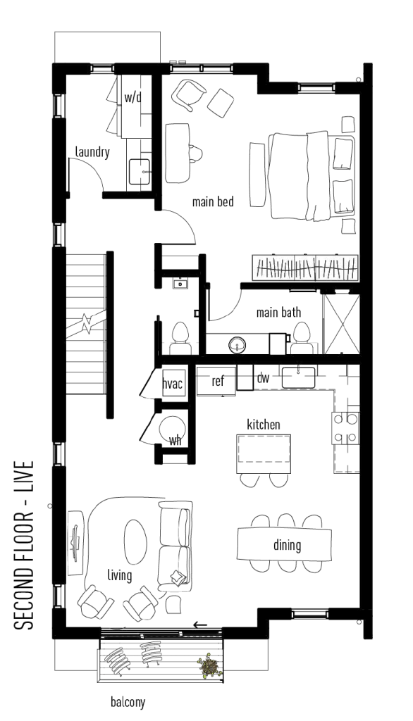 Second floor plan of The Industrious Live-Work