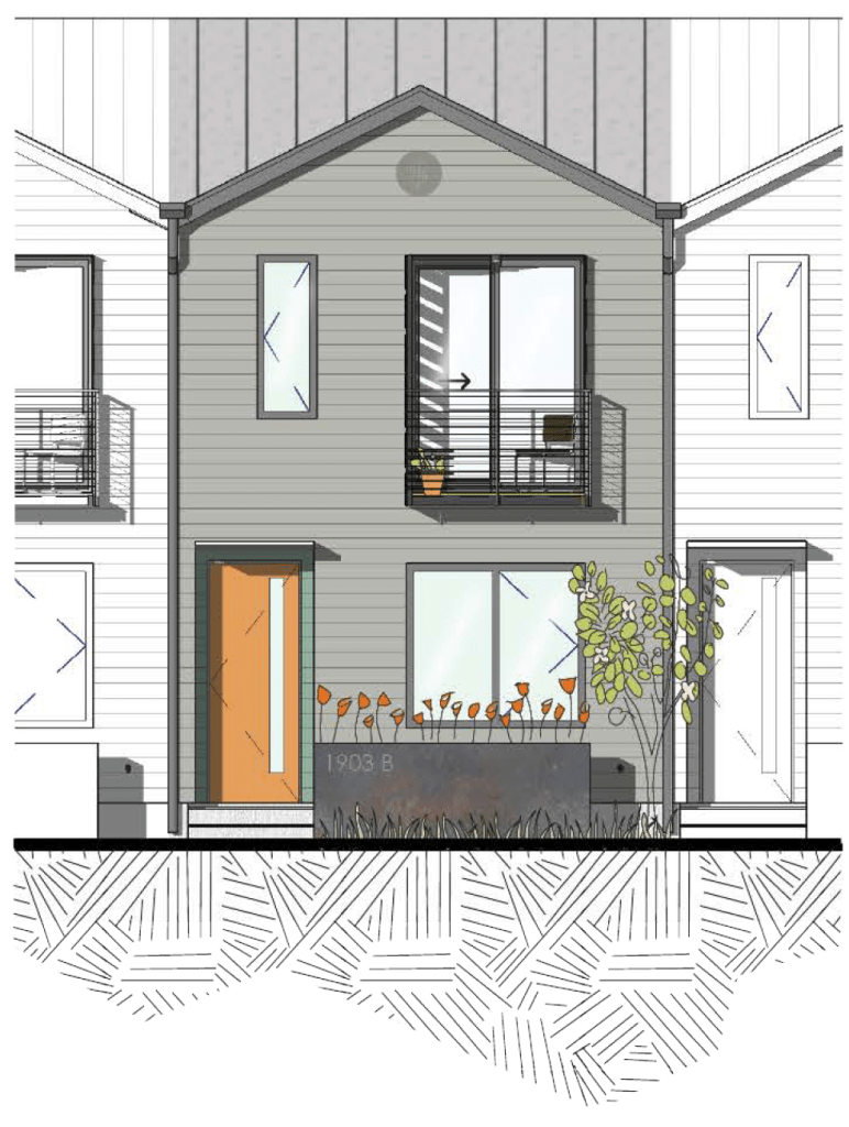 Rendering of The Clever Townhome