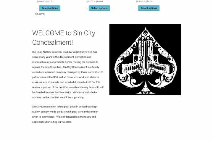 Sin City Concealment Las Vegas Custom firearm holsters