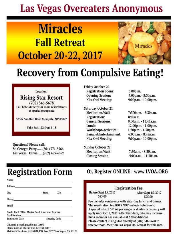 LVOA Fall Retreat 2017 Registration Form