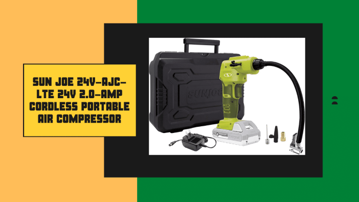 Sun Joe 24V-AJC-LTE 24V 2.0-Amp Cordless Portable Air Compressor review