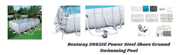 Bestway 56631E Power Steel Above Ground Swimming Pool