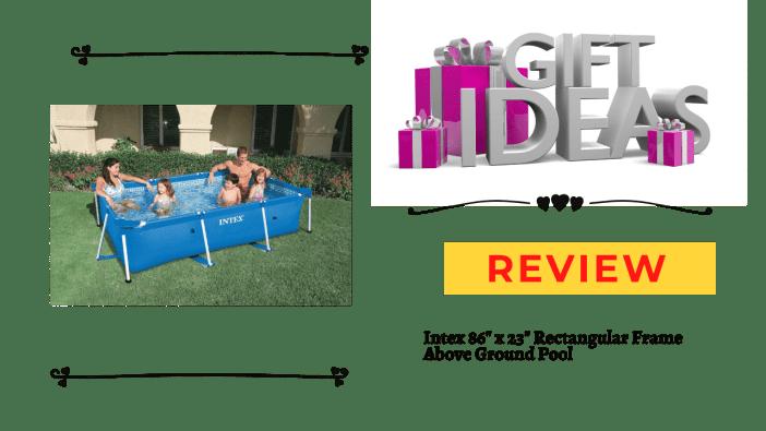 "Intex 86"" x 23"" Rectangular Frame Above Ground Pool"