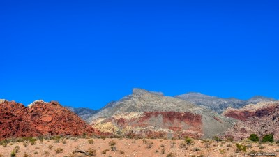 Turtlehead Peak under the blue Mojave Desert sky