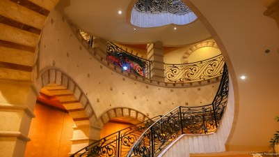 A grand entrance at one of the lobbies.