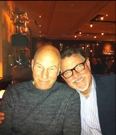 Sir Patrick Stewart with Jonathan Frakes