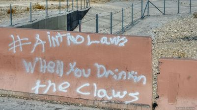 Punk-ass kids were here...