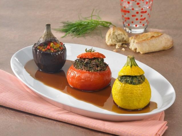 Trio de légumes farcis à la salsola / restaurant l'Armen à Brest.