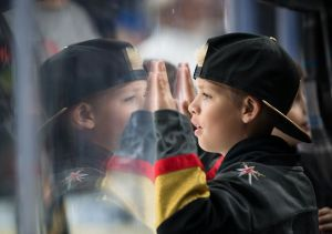 Boy at Golden Knights Game