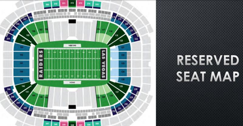 Raiders fans in las vegas seeking reserved seats get look at seat