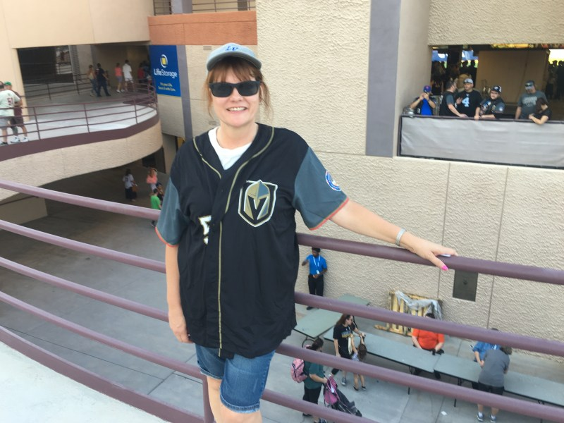 outlet store 817be df102 Golden Knights-Theme Baseball Jersey Giveaway at Las Vegas ...