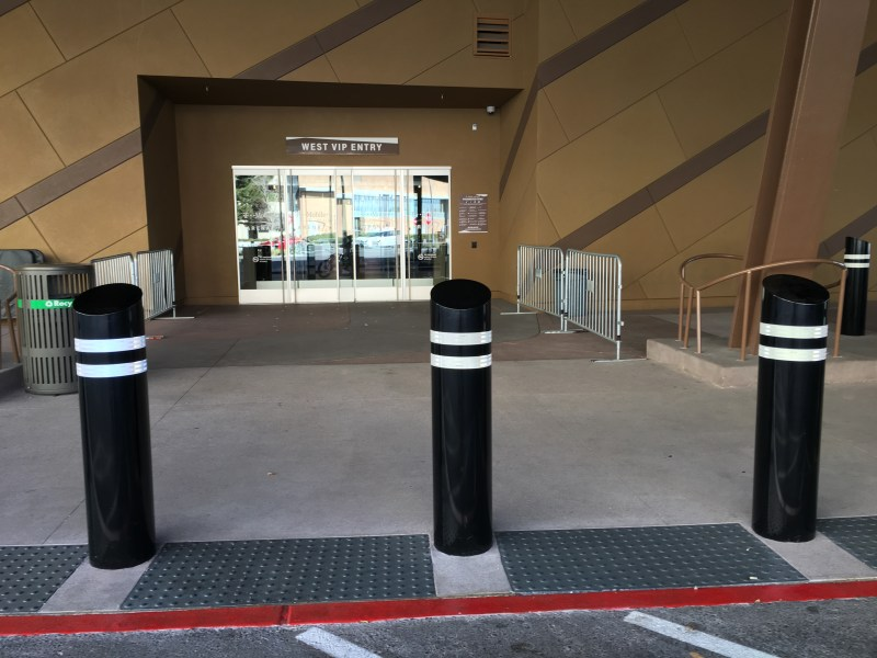T-Mobile Arena Installs Safety Posts at Venue's West VIP
