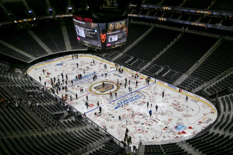 Golden Knights Fans Close Book On VGK Season 2 With Paint