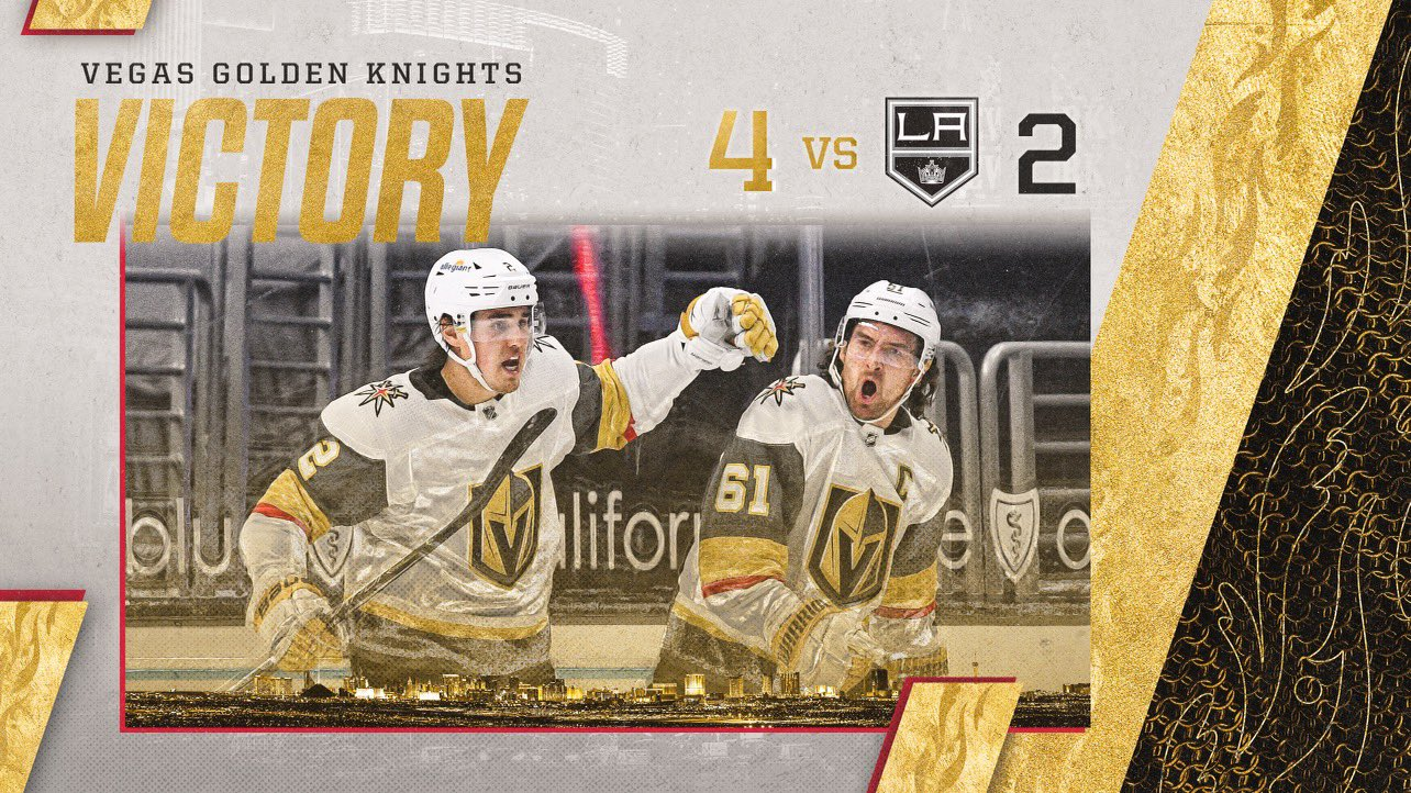 VGK Rally For Four Consecutive Goals To Defeat Kings, 4-2, In LA Monday - LVSportsBiz