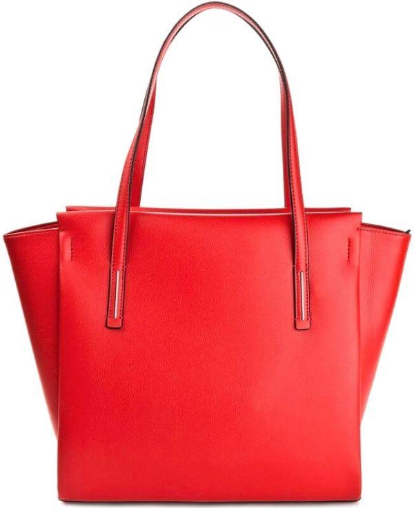 Kabelka Calvin Klein Frame Large Shopper červená